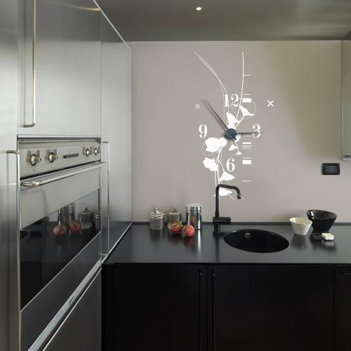 D couvrez les horloges murales g antes en sticker avec leurs grandes aiguille - Pendule cuisine moderne ...